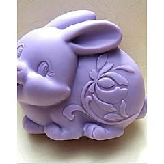 Easter Rabbit Fondant Cake Chocolate Silicone Mold Cake Decoration Tools,L9.6cm*W7.6cm*H3.8cm