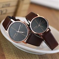 couro moda do casal relógios de alta qualidade circular movimento do relógio japonês (cores sortidas)