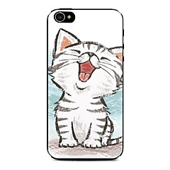 Happy Kitten Pattern Hard Case for iPhone 4/4S