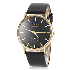 Women's Gold Round Dial PU Band Quartz Wristwatch (Assorted Colors) Cool Watches Unique Watches