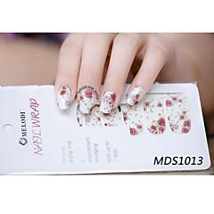 14pcs cartoon warme kleur nail art stickers mds1013