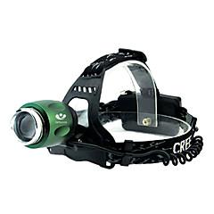 LED - Camping/Vandring/Grotte Udforskning/Cykling/Klatring/Udendørs - Hovedlygter ( Vanntett/Genopladelig/Lygtehoved )