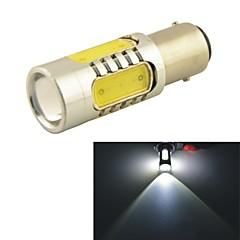 Carking™ Auto 1157 11W 5SMD LED Lens Rear Turn Tail Signal Light Lamp-White(12V 1PC)