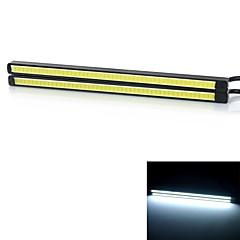 exled 6w samochód światło dzienne światło białe 6000k chłodną kolby 220lm - czarny + żółty (12v / 2 szt)