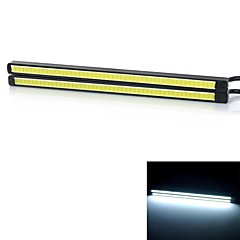 exled กลางวันรถ 6W ทำงานไฟแสงสีขาวเย็น 6000k ซัง 220lm - สีดำ + เหลือง (12V / 2 ชิ้น)
