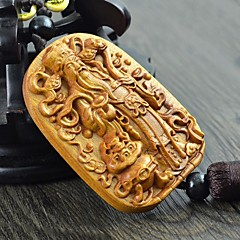 LEBOSH®High-quality Goods Pear Wood Pendant God of Fortune Length of 7 Width of 4.9