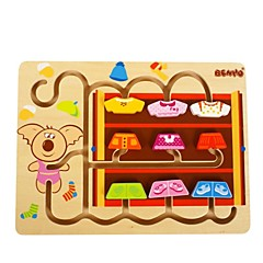 BENHO Birch Wood My Little Wardrobe-Girl Puzzle Wooden Education Toy