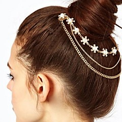 Toonykelly Fashion Gold Plated Flower Hair Jewelry Hair Combs Piece with Crystal For Women (1 Pc)