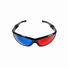 re-brukbar plast ramme harpiks linse anaglyphic blå + rød 3d film spesielle briller