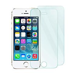 iphone 5/5秒/ 5cのためのマイクロファイバーの布で2パックの0.33ミリメートル強化ガラススクリーンプロテクター