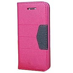 poudre pu cuir pleine cas de corps avec la mode aspiration automatique pour iphone 5/5 ans (couleurs assorties)