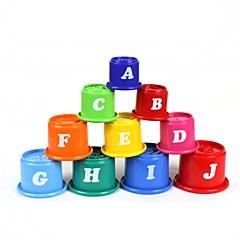10-i-1 engelsk alfabetet stabler kopper sett