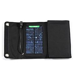 7W 5v painel de energia solar 1.3a usb externo dobrar carregador cobrando saco para iphone6 / 6plus / Samsung / outros dispositivos móveis