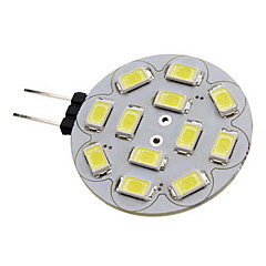 2w g4 led spotlight 12 smd 5730 180-210 lm warm wit / koel wit dc 12 v