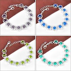 Newest Round Crystal Peridot Blue Topaz Amethyst Green Amethyst Prasiolite Gemstone Strand Bracelet Bangle