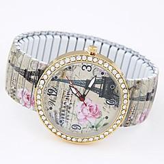 Dámské Módní hodinky Náramkové hodinky Hodinky na běžné nošení Křemenný Slitina Kapela Eiffelova věž Vícebarevný