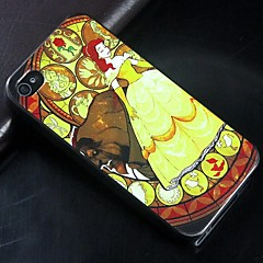 Beauty and the Beast Pattern Design Pattern Hard protection Case for iPhone 4/4S