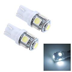Merdia T10 0.5W 25LM 5x5050SMD LED White Light Reading Light/License Plate Lamp/Side light (24V / Pair)