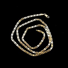 Necklace Chain Necklaces Jewelry Wedding / Party / Daily / Casual / Sports Gold Plated Gold 1pc Gift