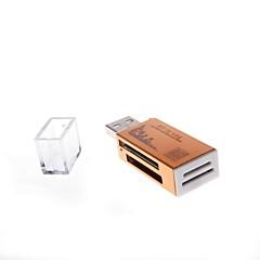 836 USB 2.0 480Mbps vier in een geheugenkaartlezer ondersteunt TF / SD / MS en m2 (verschillende kleuren)