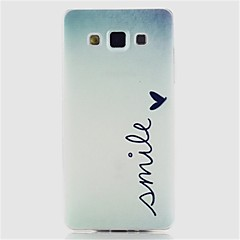 Για Samsung Galaxy Θήκη Με σχέδια tok Πίσω Κάλυμμα tok Λέξη / Φράση TPU Samsung A5