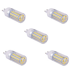 5 pcs G9 15 W 60 X SMD 5730 1500 LM 2800-3200/6000-6500 K Warm White/Cool White Corn Bulbs AC 110/220 V