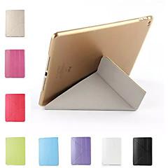 Silkworm Silk Pattern Multi-Fold Solid Color PU Leather Smart Covers/Folio Cases/Origami Cases for iPad 2/iPad 4/iPad 3
