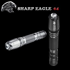 SHARP EAGLE/ZQ-LA-04 Green Laser Pointer(5mw.532nm.1x18650.Black、Silver)