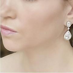 Vitage Wedding Party Birde CZ Crystal Earring