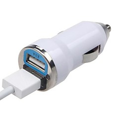 Universal Dual USB Mini Car Charger for iPhone 6/ iPhone 6 Plus/5/5S/5C/iPad5 and Others