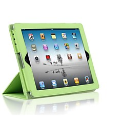 Support bracket PU leather protective sleeve for iPad 2/3/4 (Assorted Colors)
