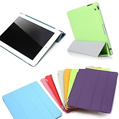 iPad 2/iPad 4/iPad 3 compatible Solid Color PU Leather Wake Up Smart Case Cover s with Back Cases