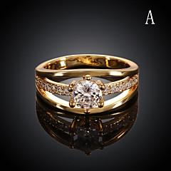Rose Gold Plated Ring 18K Gold Plated Ring Midi Rings Wedding/Party/Daily/Casual/Sports 1pc