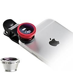 Plastik Fiskeøjeobjektiv Objektiv med lang brændvidde Vidvinkelsobjektiv 10X og derover Objektiv med etuiiPhone 4/4S iPhone 3G/3GS iPad