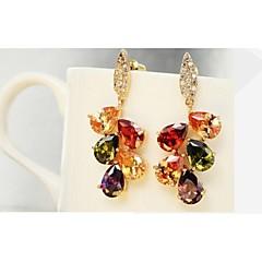 Fashion Jewelry Women Drop Dangle Earrings 10KT  Gold Filled Earring For Lady 2014 Free Shipping Ear