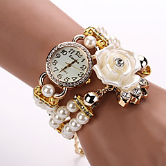 Rose Pearl Flower Wristwatch Luxury Strap Bracelet Watch
