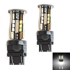hj 3157 10w 900lm 5500-6000k 30x2835 SMD conduit ampoule de lumière blanche pour la lumière de frein de voiture (12-24v, 2 pièces)
