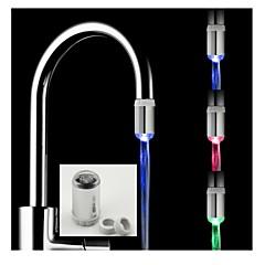 elegante sensor de agua calor cocina alimentado sin baterías de luz LED grifo con 2 adaptador