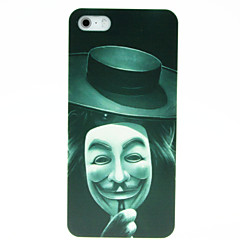 Cartoon - iPhone 5/iPhone 5S - Capa traseira ( Preto/Branco , Policarbonato )