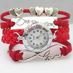 Damskie Modny Zegarek na bransoletce Kwarcowy PU Pasmo Heart Shape Artystyczny Czerwony Czerwony