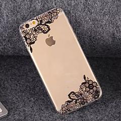 caso suave del tpu de encaje hermosa para el iphone 5 / 5s