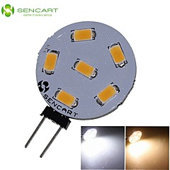 G4 3W 6x5730/5630SMD LED 270LM 3000K 6500K Warm White/Cool White for Car Light Bulb (DC9-36V)
