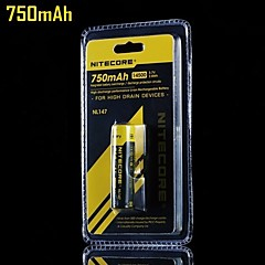 14500 750mAh Li-ion rechargeable batteries de Nitecore