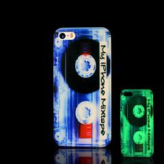 cassete padrão brilham no escuro caso difícil para o iphone 5 / iPhone 5 s