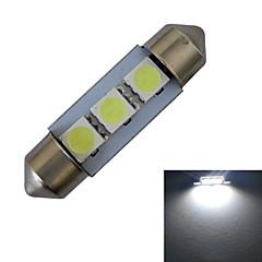 JIAWEN® Festoon 36mm 1W 3x5050SMD 60LM 6000-6500K Cool White Reading Light LED Car Light (DC 12V)