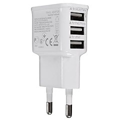 universella eu plug 3-port usb laddare iphone 6/6 plus / 5 / 5s samsung s4 / 5 htc lg och andra