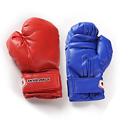 Winmax® Outdoor Junior Blue/Red PU Boxing Gloves (Weight:6-8oz)