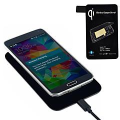 Chargeur sans fil standard qi + récepteur tag pour Samsung Galaxy i9600 de les g900 chaudes