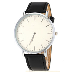 Men's Ultra Slim Case Leather Band Quartz Wrist Watch Cool Watch Unique Watch Fashion Watch
