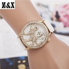 damesmode diamant luipaard kwarts analoge stalen riem horloge (verschillende kleuren)